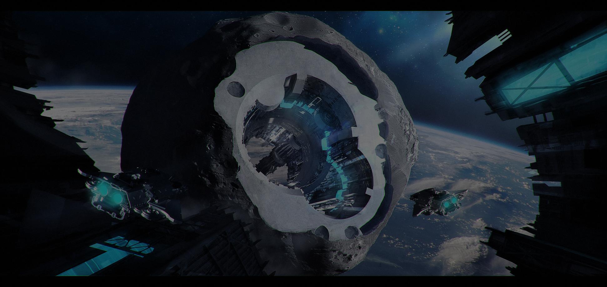 Asteroid Station (c) M. Drabik